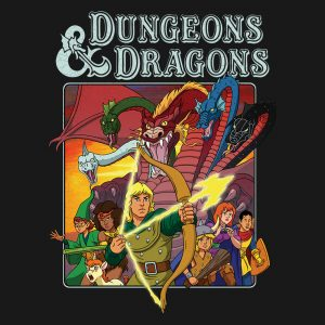 camiseta dungeons and dragons e