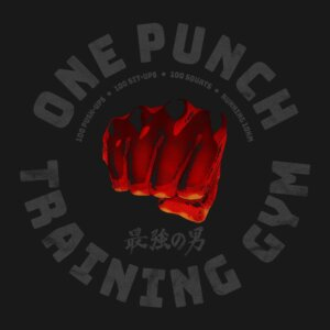camiseta one punch gym e
