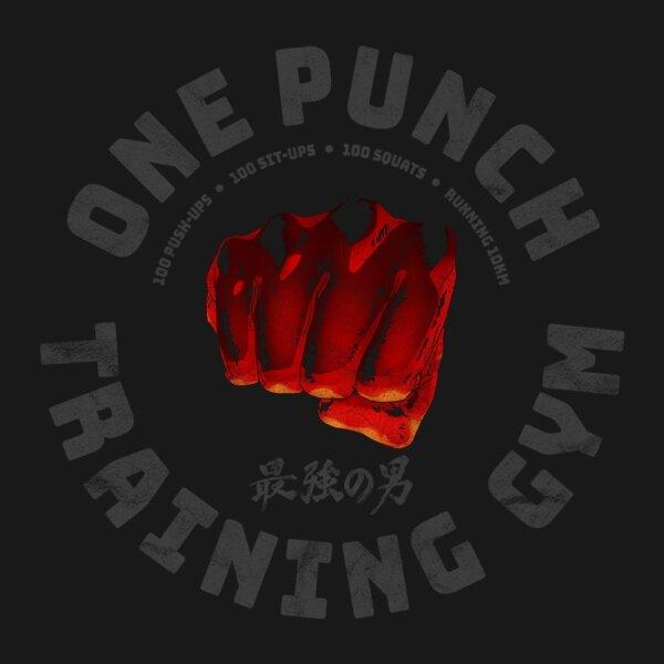 camiseta one punch gym e