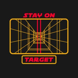 camiseta stay on target e