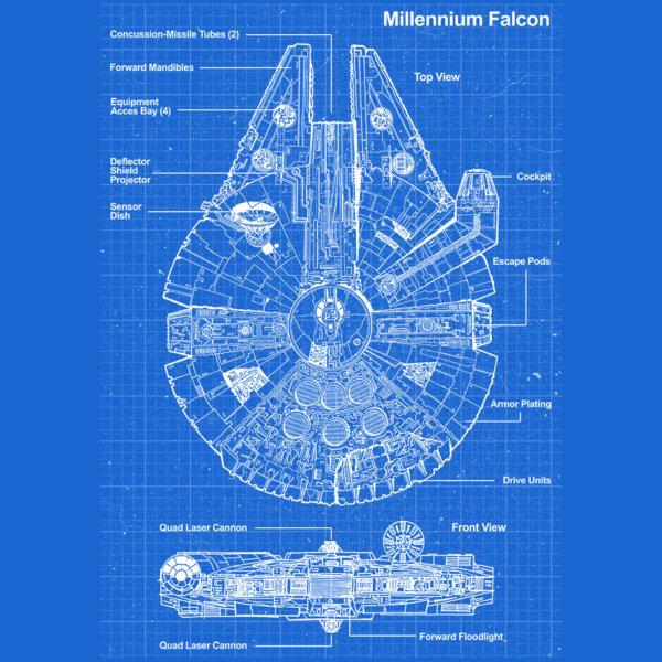 camiseta millennium falcon e